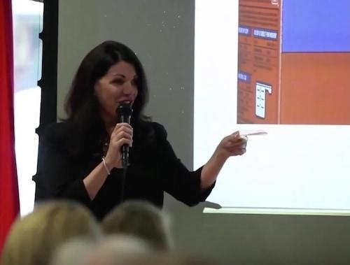 Katie Speaking at a Talk